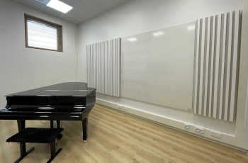 Sky Whiteboard with music lines